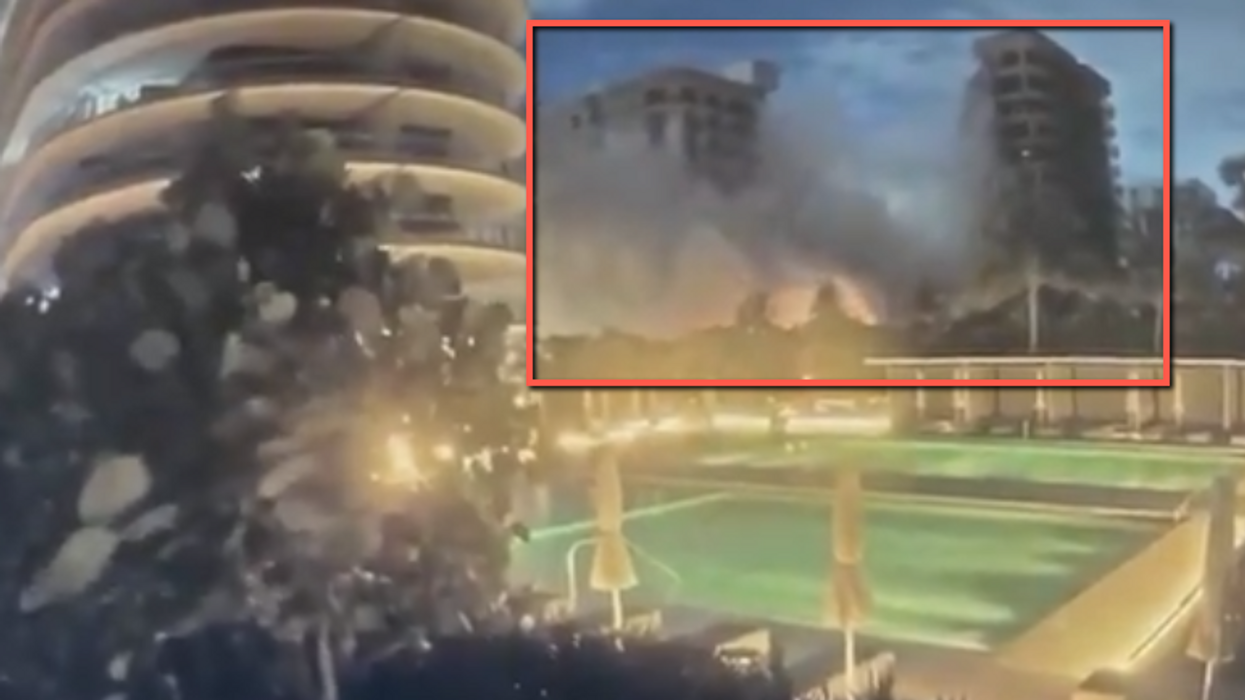 Watch: Shocking video shows the exact moment a 12-story condo in Miami partially collapsed