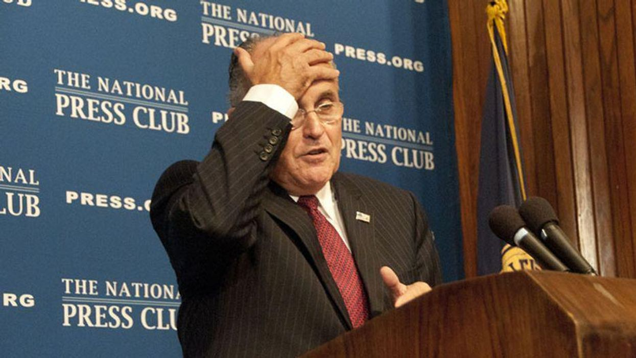 Rudy Giuliani hatched Trump's 'big lie' on Election Night after 'drinking too much': new book