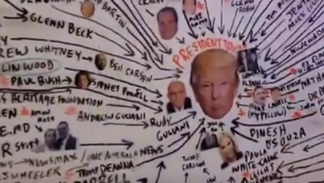 Bizarre 'cult map' making rounds on the conspiratorial right sparks confusion and mockery