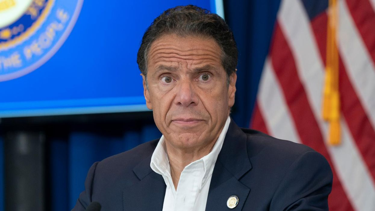 Did Andrew Cuomo ditch his dog while moving out of the governor's mansion?
