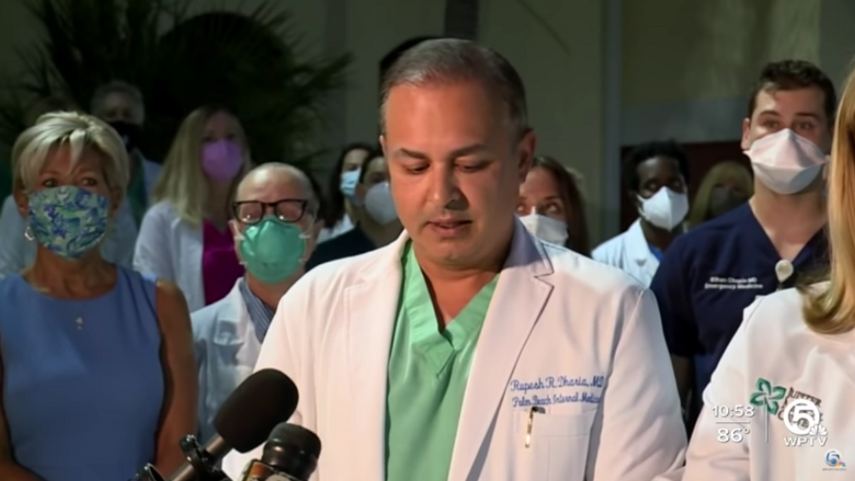 Florida doctors hold press conference to raise awareness about the COVID health crisis in the state