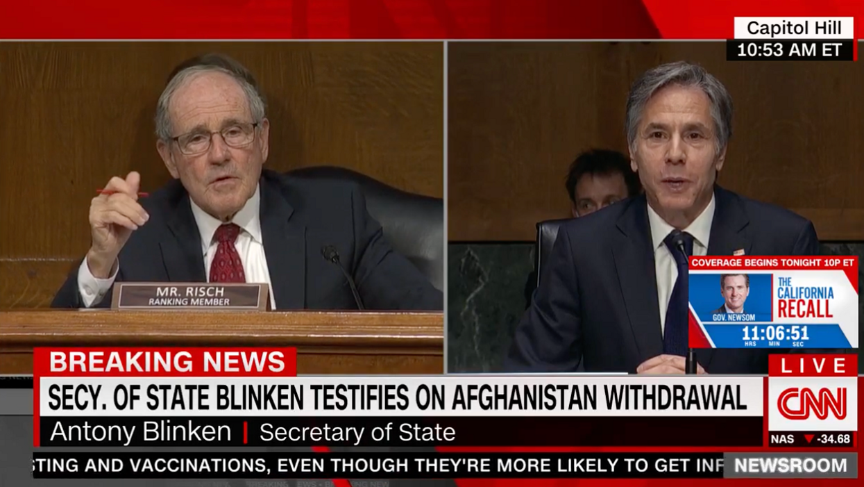'The president speaks for himself': Blinken shuts down GOP senator claiming someone has 'a button' to silence Biden