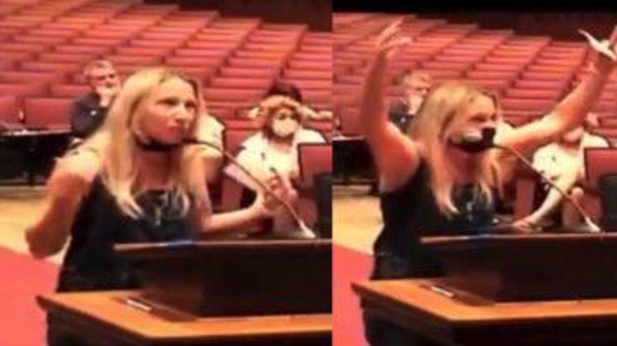 'Look at me!' Anti-masker repeatedly yells at school board president – then screams about 'Nuremberg trials'