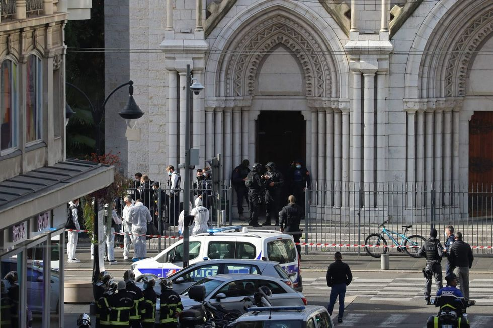 Three killed in terrorist knife attack inside Nice church