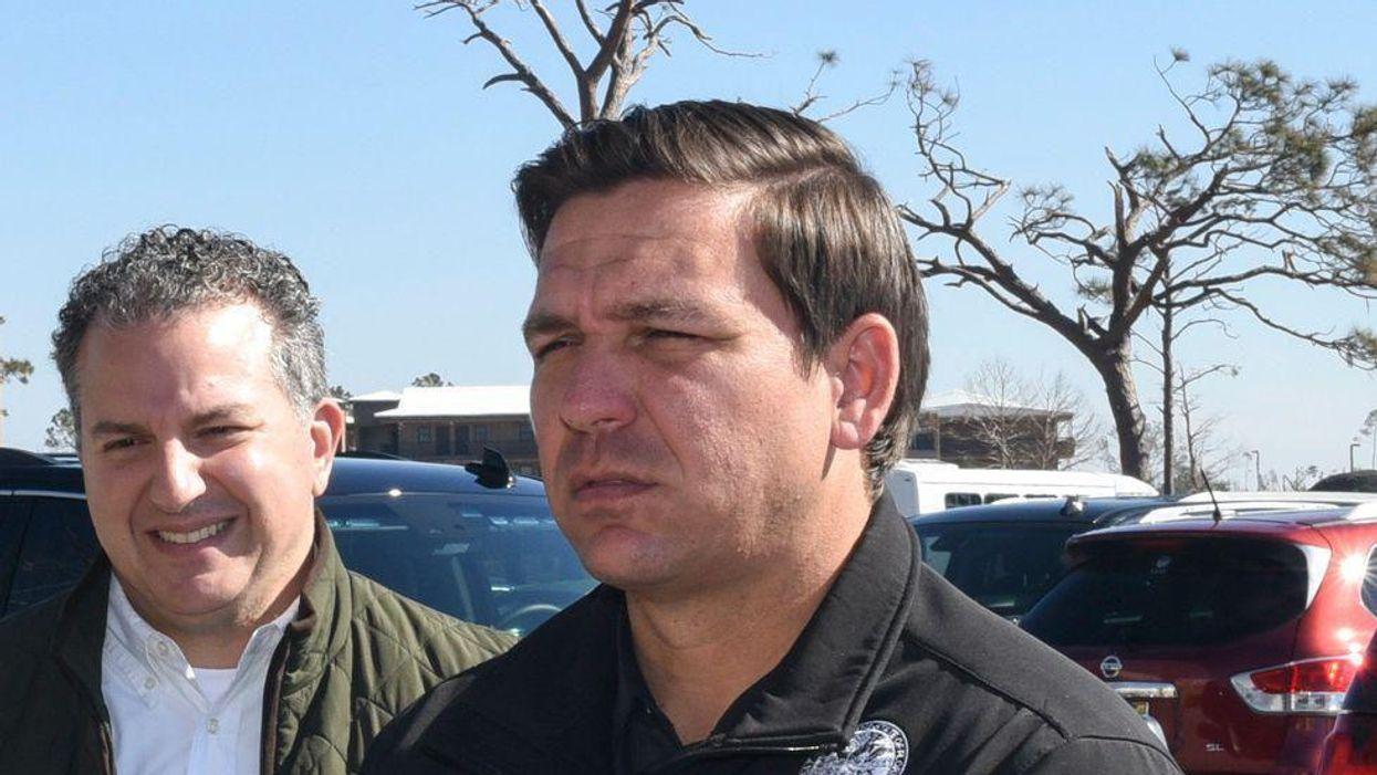 DeSantis spending $3.6m of Florida taxpayers' money for checks his Logo to go to cops and teachers