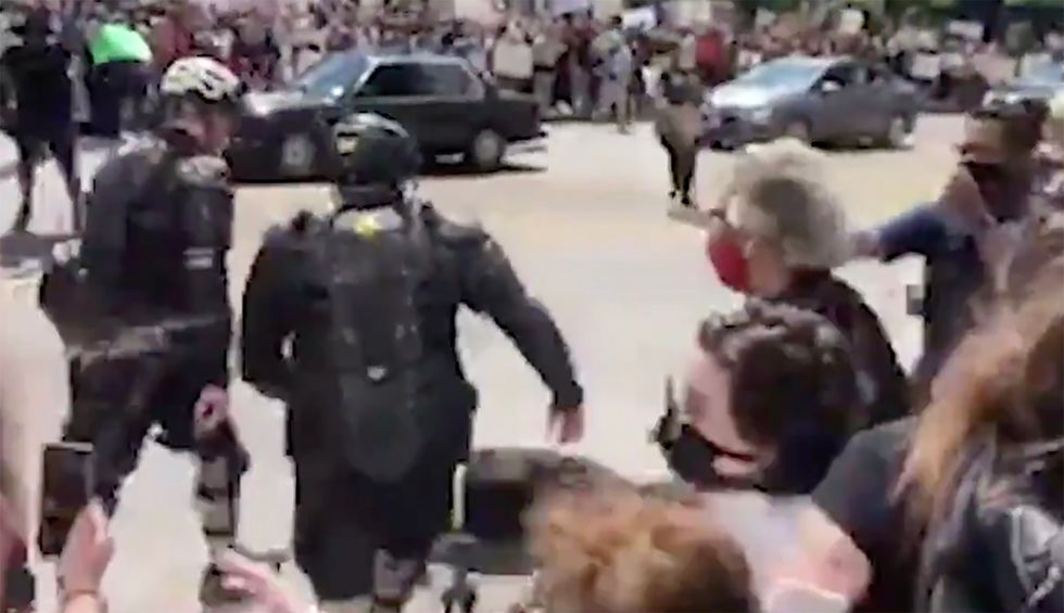 Democratic Rep. Joyce Beatty and Columbus City Council President pepper sprayed at protest