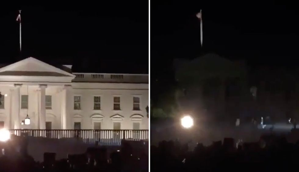 'He is falling apart': Trump buried in scorn for turning off White House lights like his 'hiding from trick or treaters' as protests rage outside