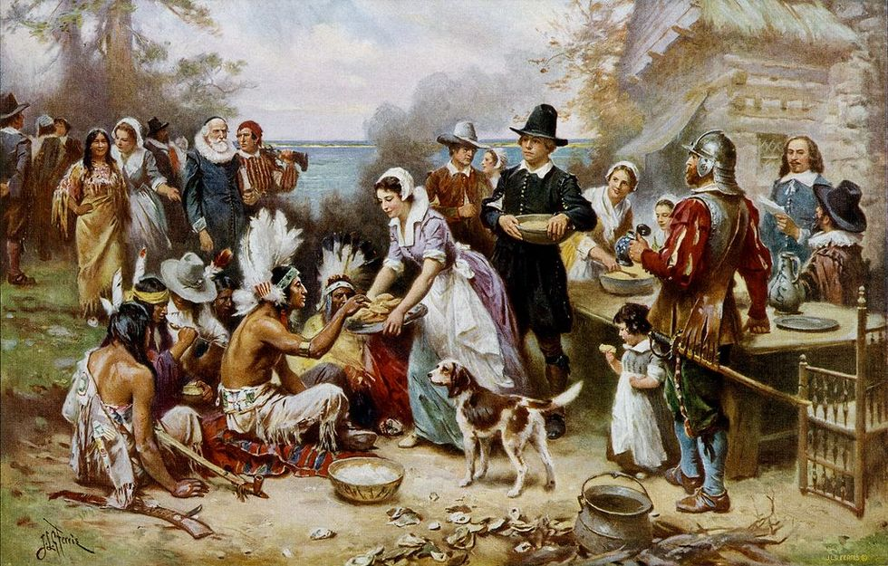 Where are the voices of indigenous peoples in the Thanksgiving story?