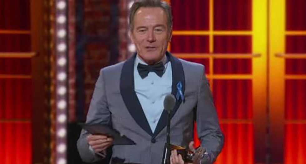 WATCH: Bryan Cranston perfectly nails Trump during Tony acceptance speech — without ever mentioning his name