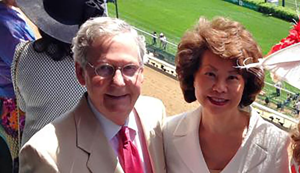 How Transportation Secretary Elaine Chao helped pave the way for $78 million worth of projects in husband Mitch McConnell's Kentucky