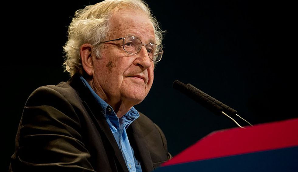 Noam Chomsky explains how the United States is committing 'a form of criminality with literally no historical antecedent'