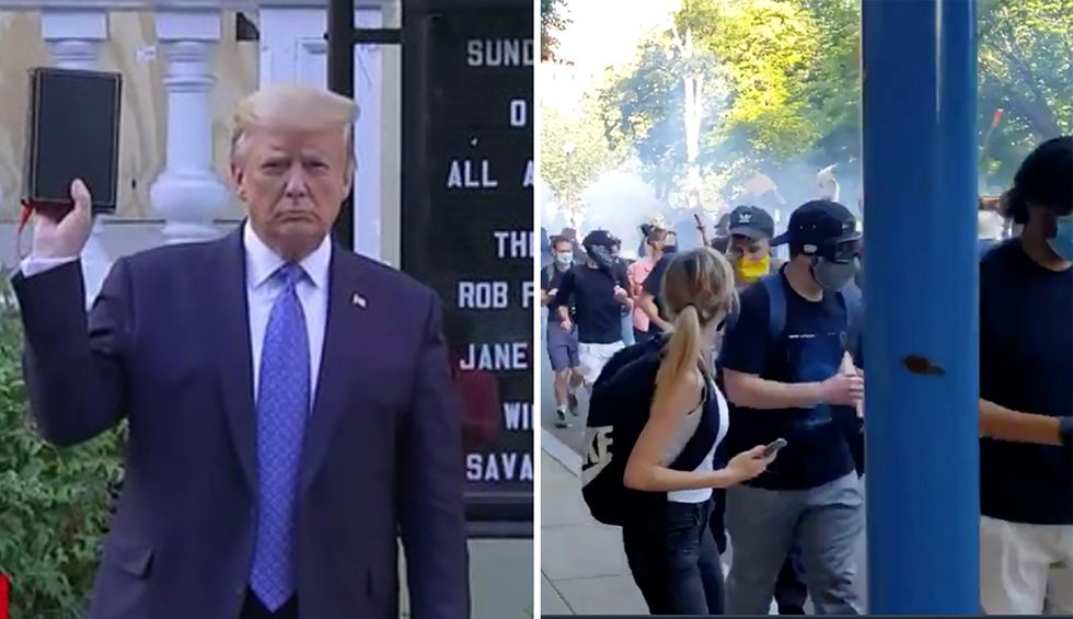 'Fascism has come to America': Trump ripped for gassing protesters to hold awkward Bible photo-op