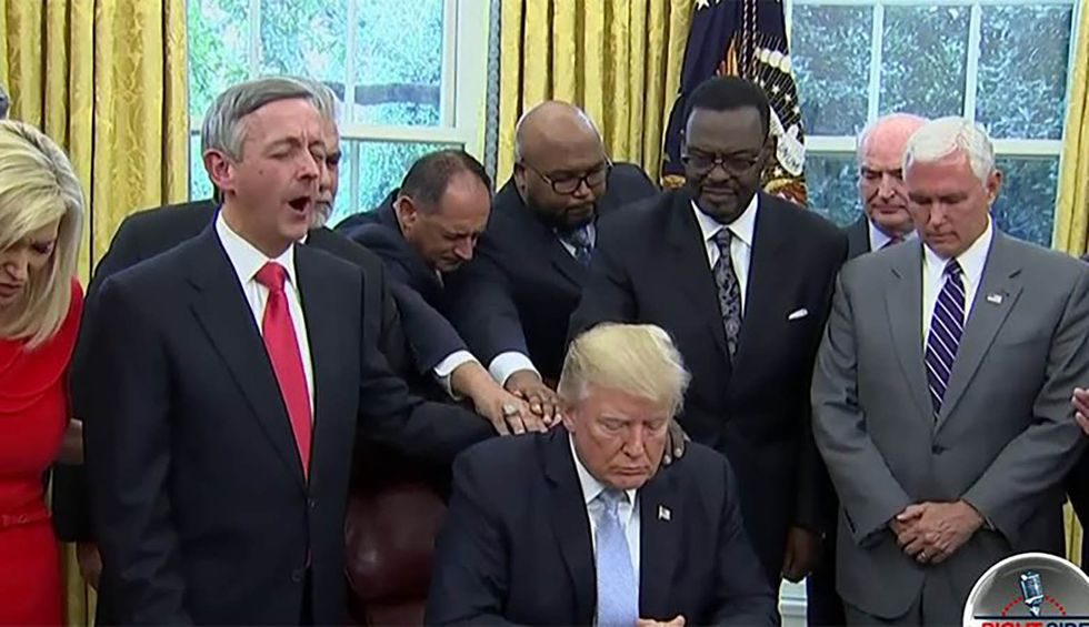 Trump's request for supporters to 'say a prayer' invites a wave of mockery: 'I pray he gets impeached'