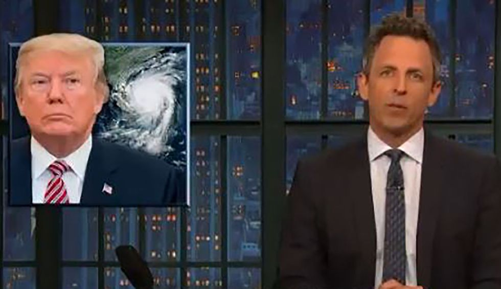 WATCH: Late-night comedians destroy Trump for his cluelessness about Hurricane Dorian