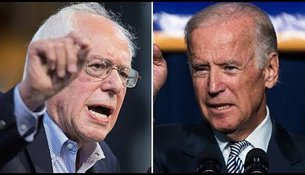 Sanders hits back at Biden's praise for pharma companies: 'Their behavior is literally killing people every day'