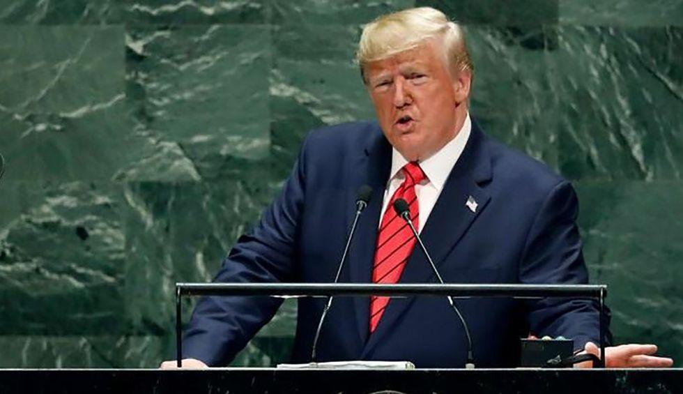 'Like a sleep-deprived hostage': Internet mocks low-energy Trump's 'utterly bizarre' UN address