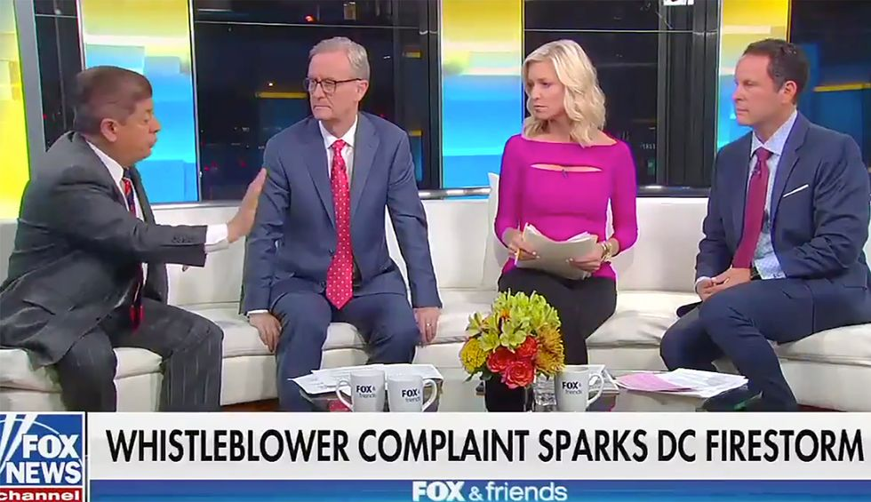 Watch these Fox & Friends hosts deflate when judicial analyst Andrew Napolitano shoots down their conspiracy theory about Nancy Pelosi