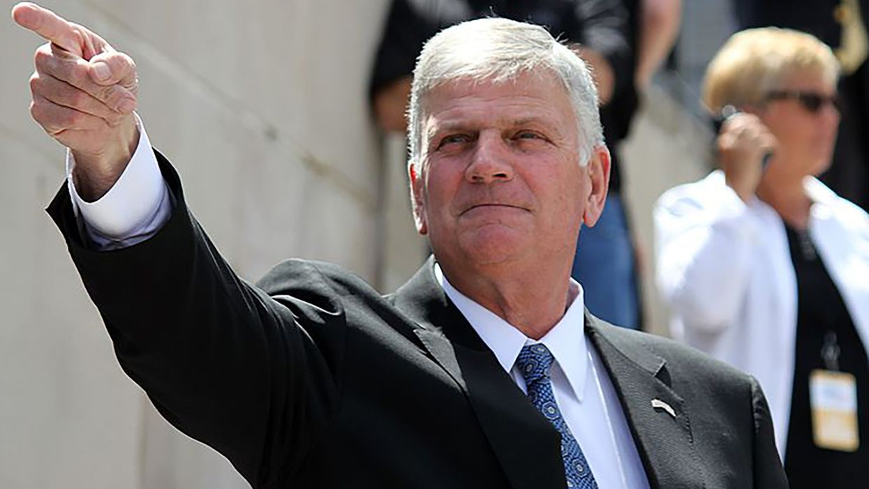 'Pray for the Christians': Graham urges school boards to fight the 'godless socialist agenda' of CRT