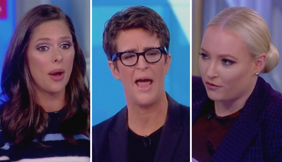MSNBC's Rachel Maddow shuts down The View's Abby Huntsman and Meghan McCain for spewing GOP talking points on Rep. Adam Schiff