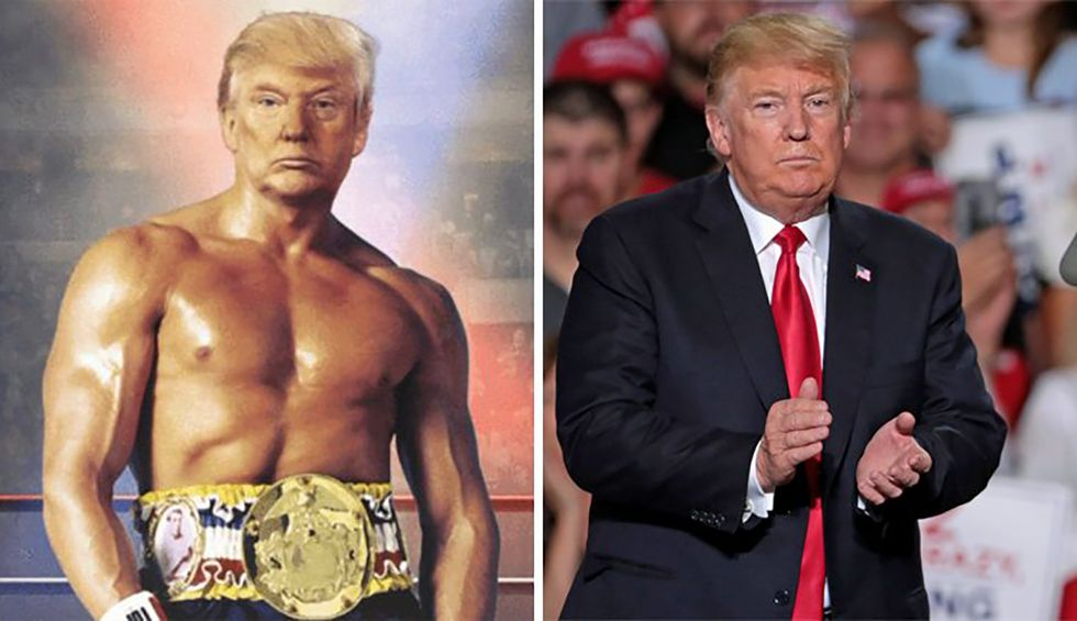 Trump's 2020 campaign attacks Washington Post for reporting the president is not actually Rocky Balboa