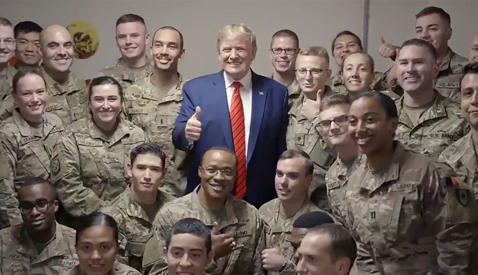 'Is it exhausting to lie all the time?': Trump defender mocked for claiming Afghanistan trip had 'no photo ops' — after posting video of photo ops