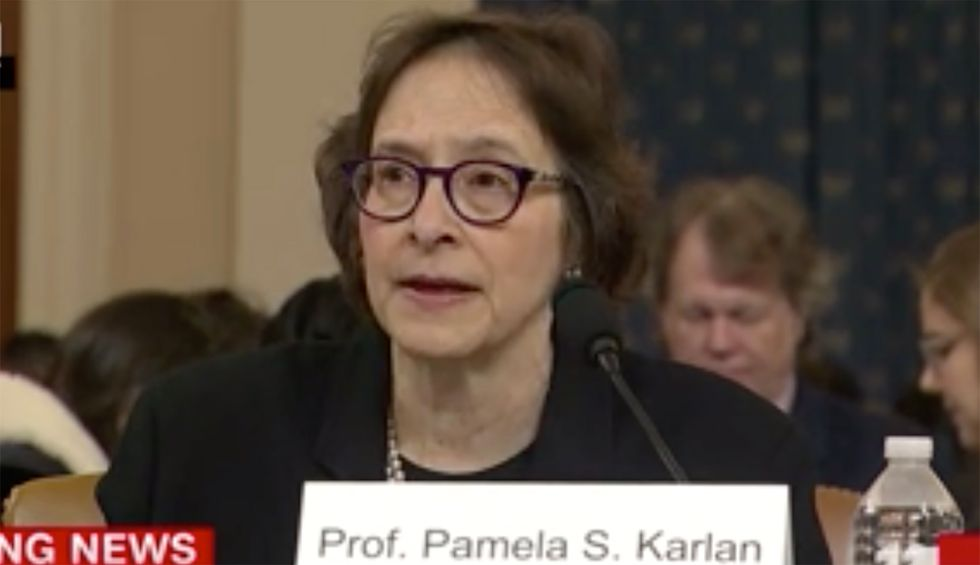 Constitutional law expert applauded for laying out 'no-nonsense' Trump impeachment case during House Intel hearing: 'A force to be reckoned with'