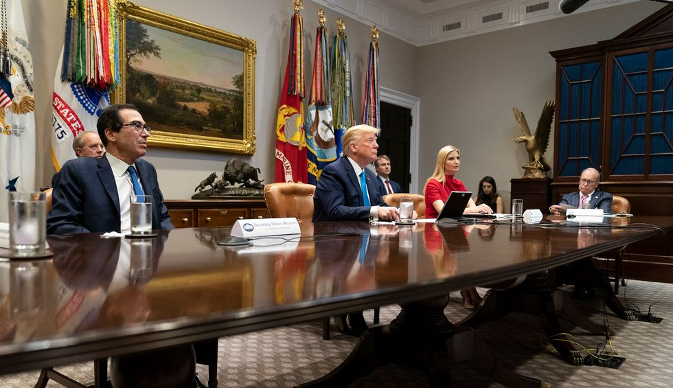 The reported lineup for Trump's new 'opening our country' task force is a complete joke