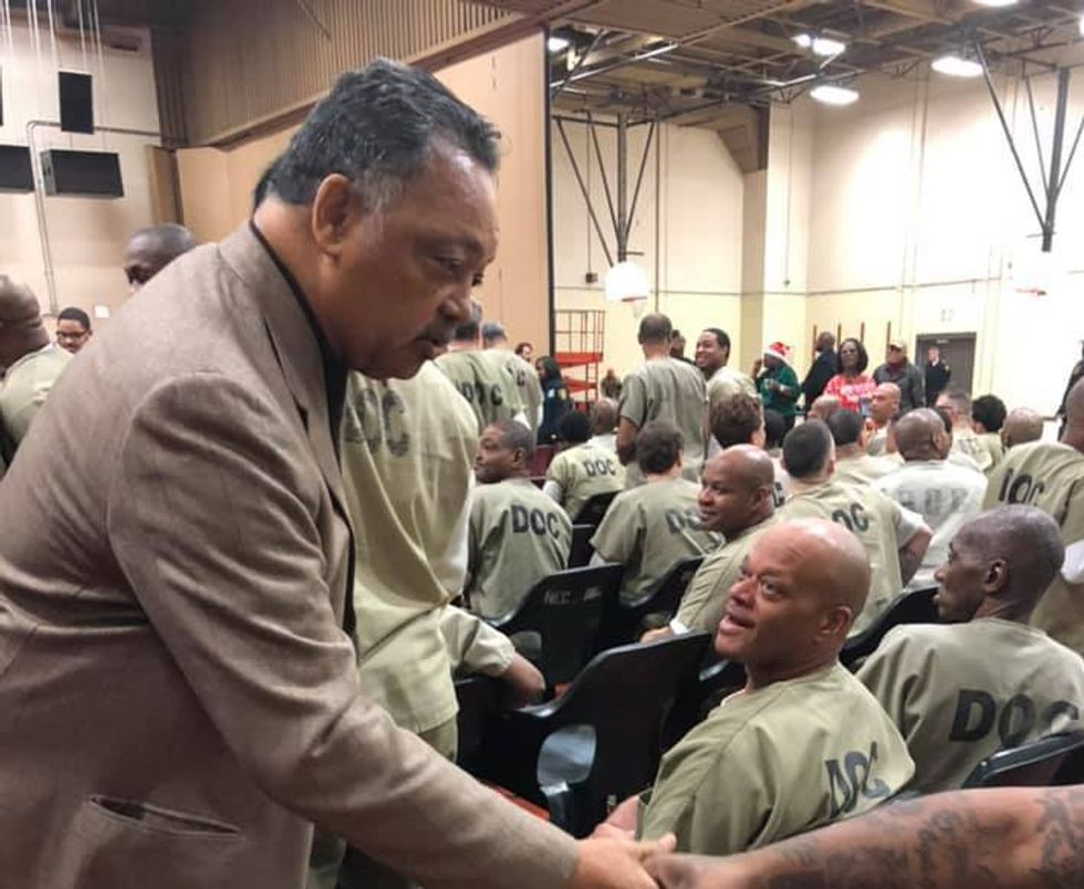 'I do not belong here': Jesse Jackson brings hope to a Cook County jail