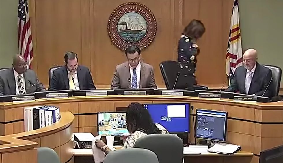 'Did she just say something?' Tampa Democratic aide denies using cough to obscure calling city councilman 'a******'