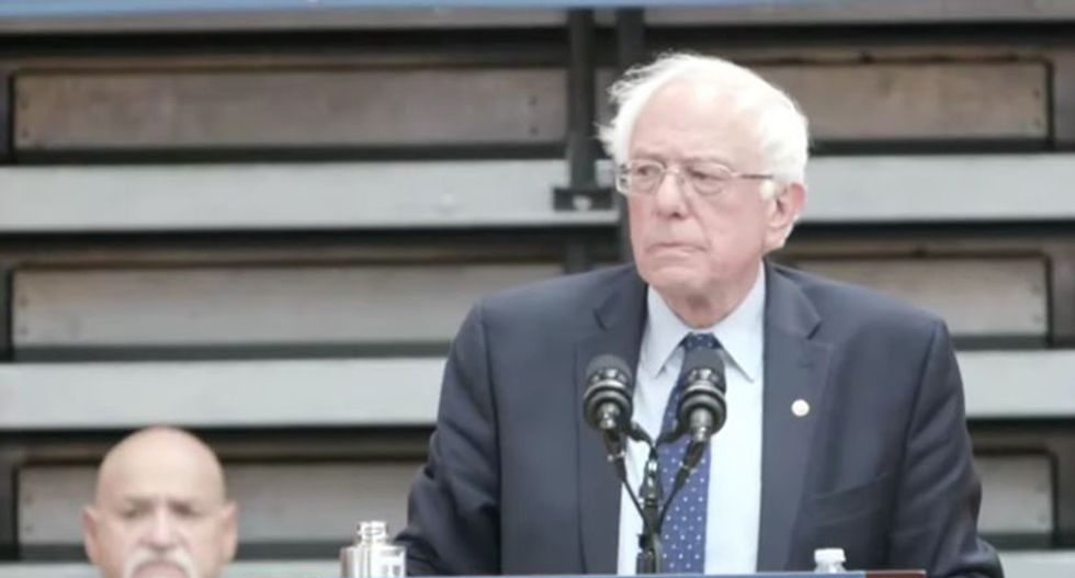 Sanders calls for bans on mass raids and for-profit detention centers — and condemns Trump's 'racist attacks on immigrants'