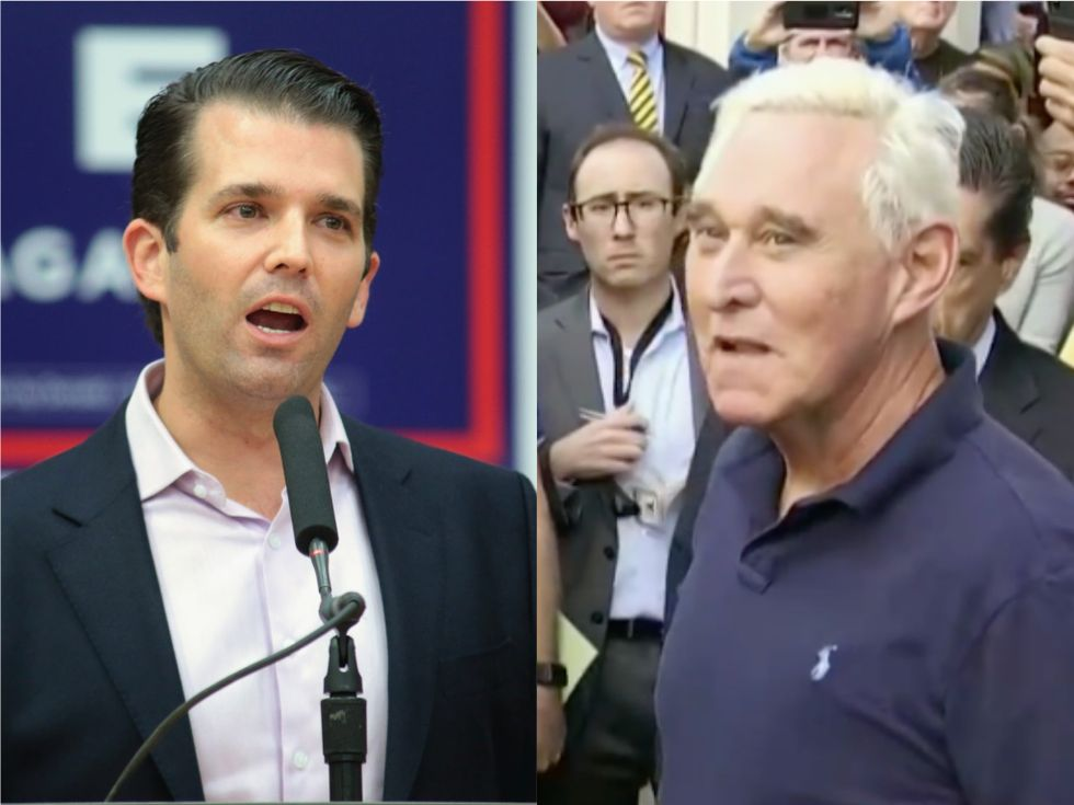 'Trump is very worried': Fears reportedly spread that Roger Stone will turn on the president — and that Don Jr. could be next