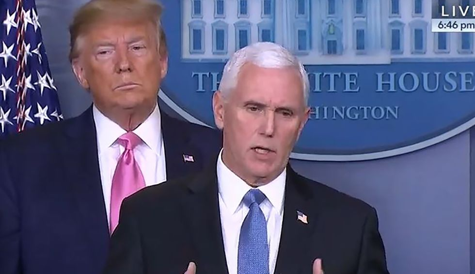 Pence secretly meeting with right-wing media personalities on how to spin Trump's virus crisis: report