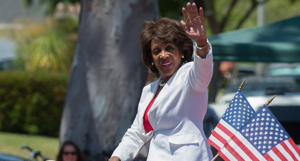 Maxine Waters intervenes after seeing a black motorist pulled over by LAPD officers: 'They stopped a brother'