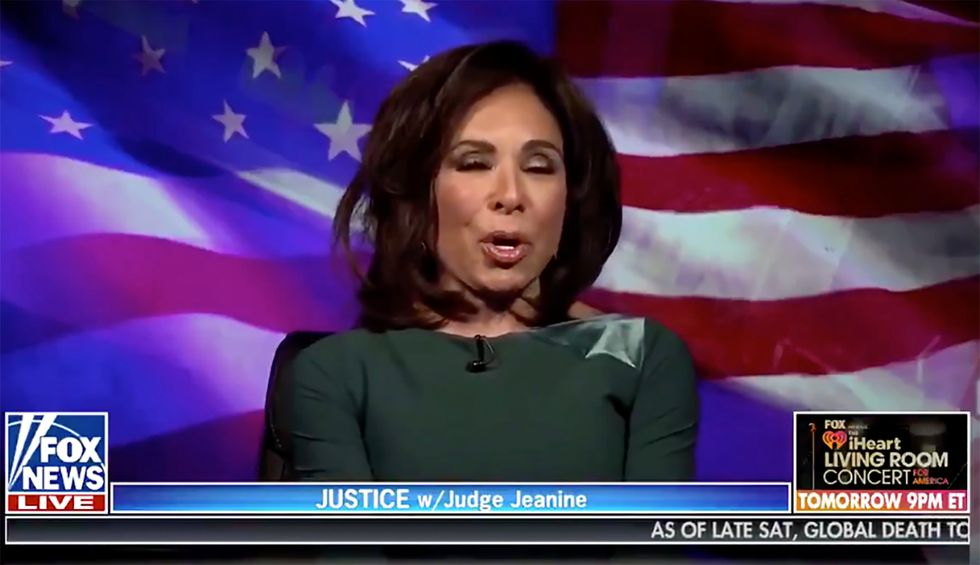 Was Fox News' Jeanine Pirro drinking before her Saturday night show? The internet sure thinks so