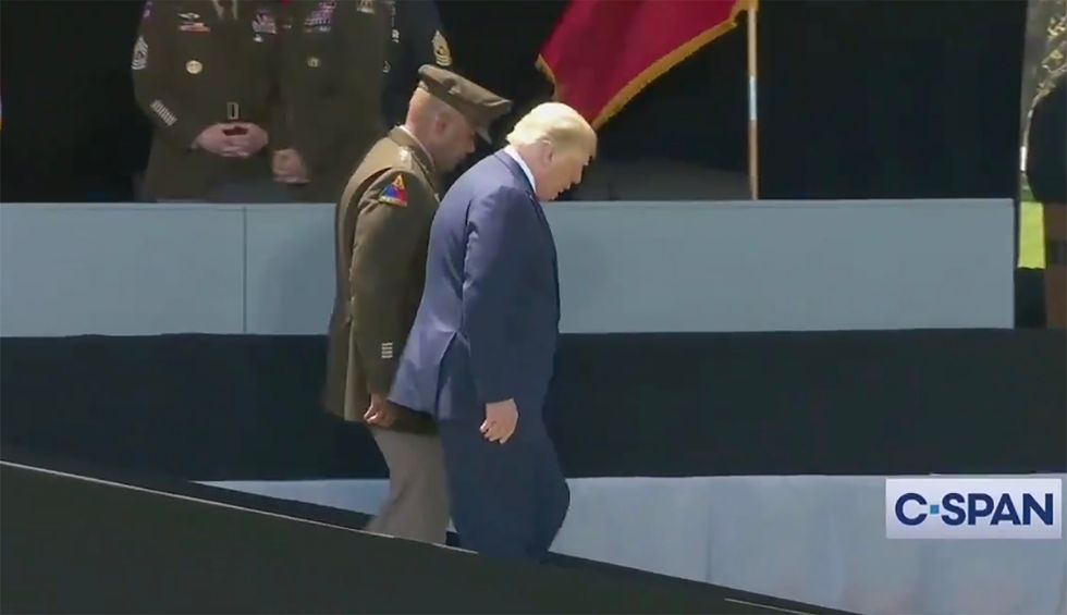 'The ramp fiasco': Trump draws attention to his walking problems by blaming 'long and steep' West Point ramp — prompting a deluge of mockery