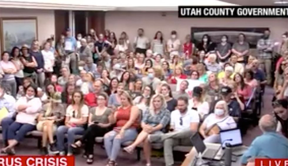 Watch: Utah public meeting goes off the rails when anti-maskers lobby against commonsense safety mandates in schools