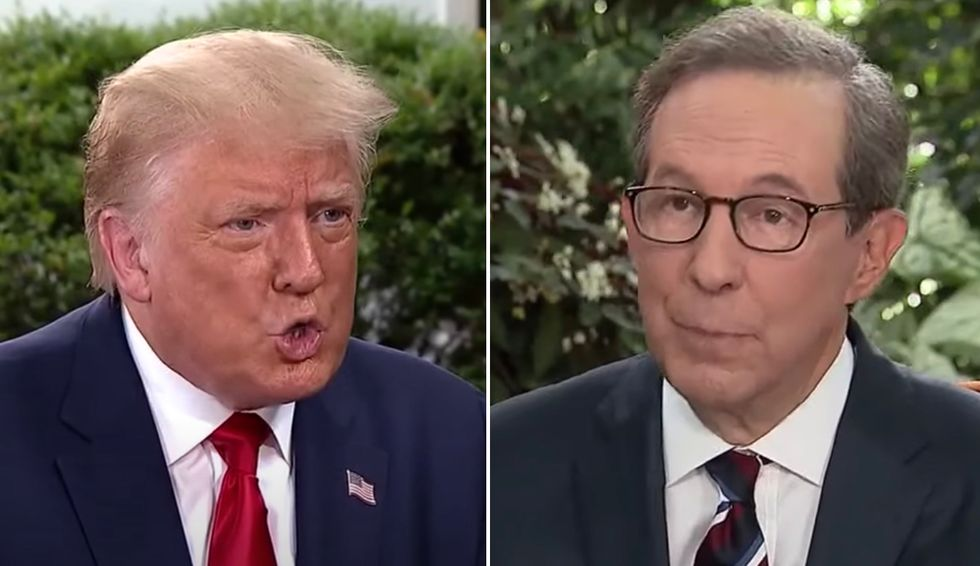 Chris Wallace fact checks Trump to his face as he melts down over COVID death rate: 'That's not true'