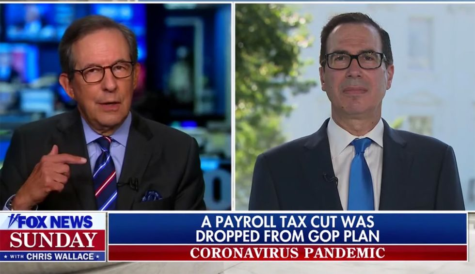 Chris Wallace fact checks Steve Mnuchin's lies on new stimulus bill: 'Republicans rejected this'