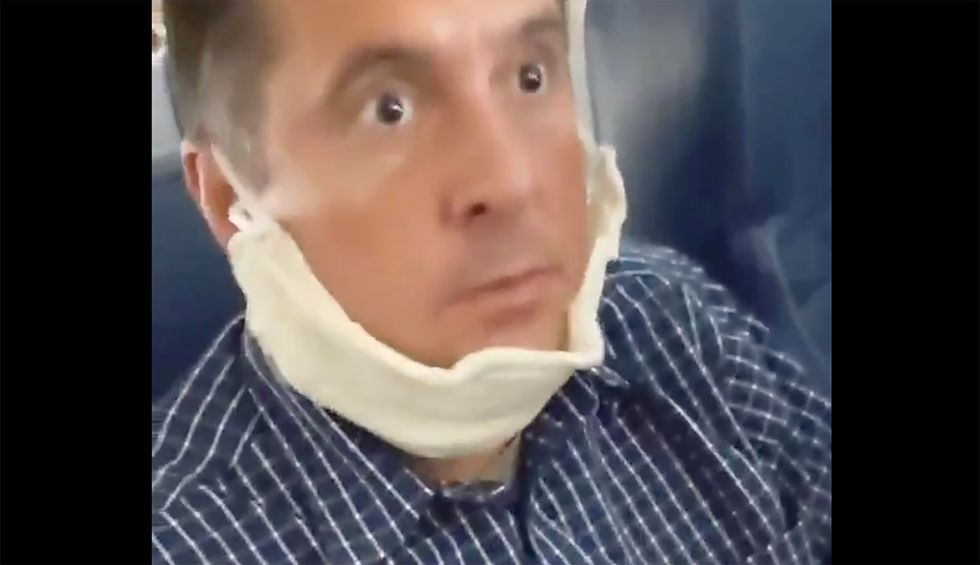 Watch: Devin Nunes mocked for his fear of fictional cows while wearing a chin-mask aboard an airplane