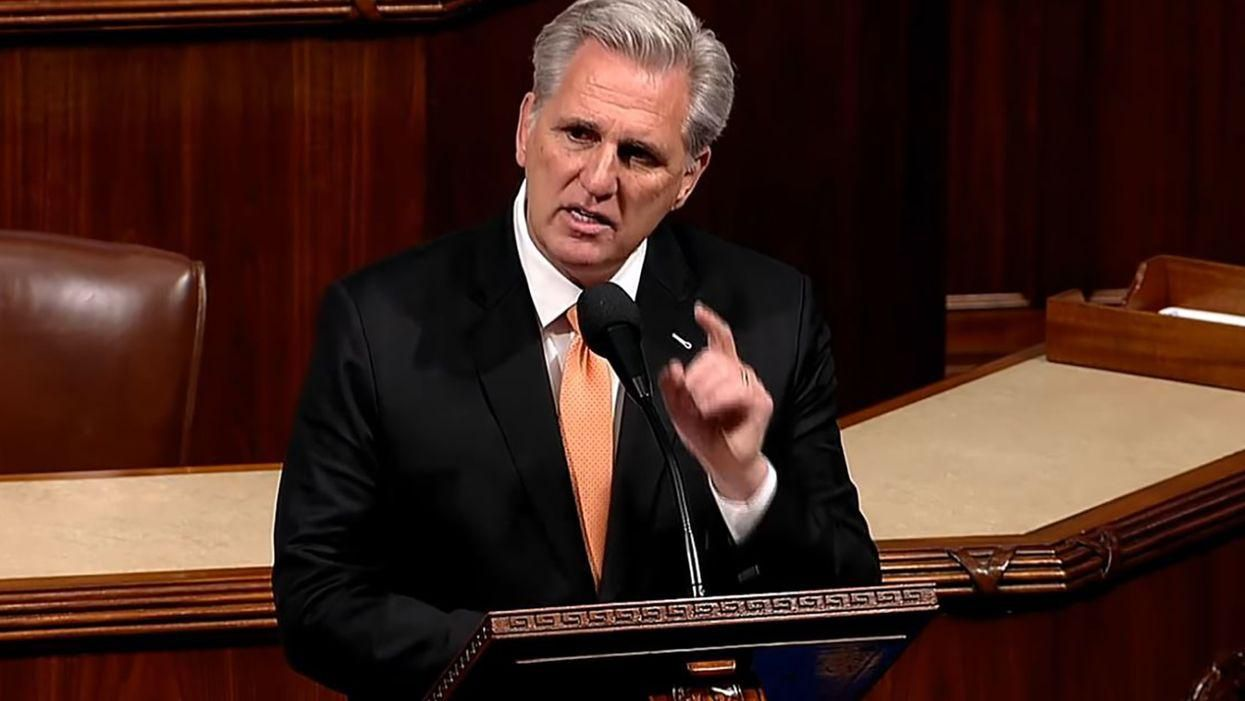 'Sad, pathetic and weak': Kevin McCarthy demolished for his mealy-mouthed defense of Trump's insurrection