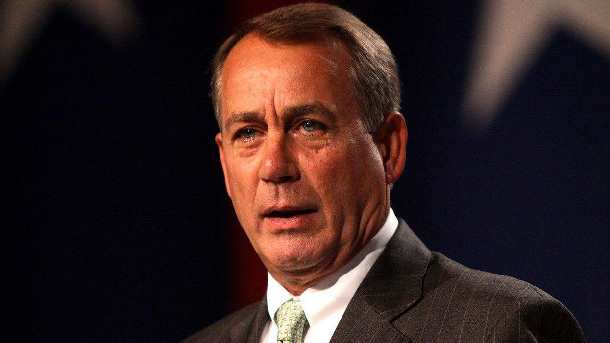 John Boehner wants us to forget he was taken down by the Frankenstein monster he helped create