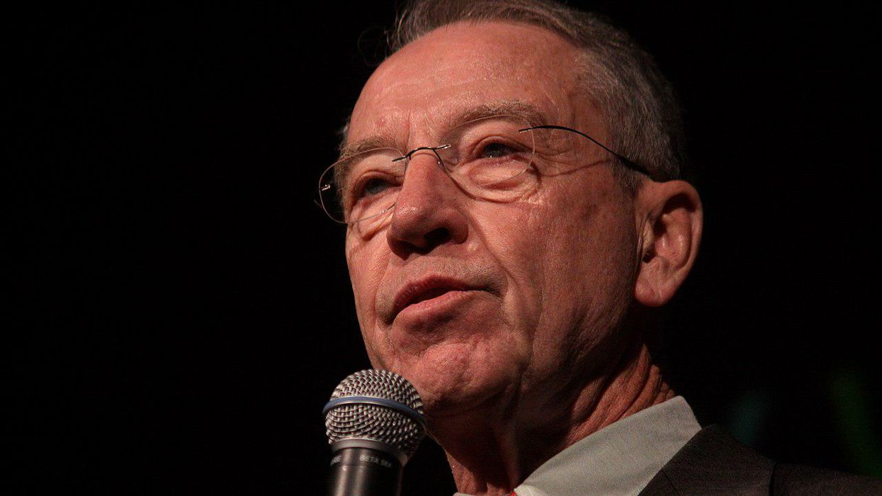 Journalist fact-checks Chuck Grassley's outrageous attempt to blame Democrats for Trump's attempted coup