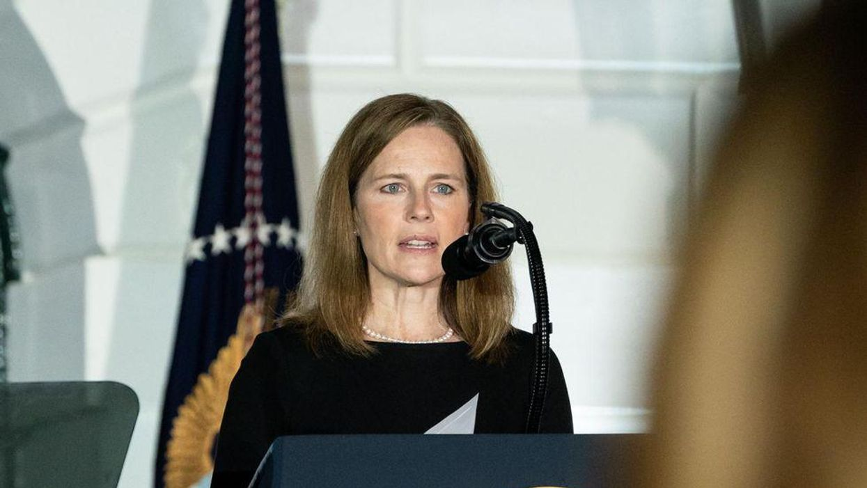 'Amy Coney Barrett is a coward': Conservatives rage at the newest justice over vaccine mandate case