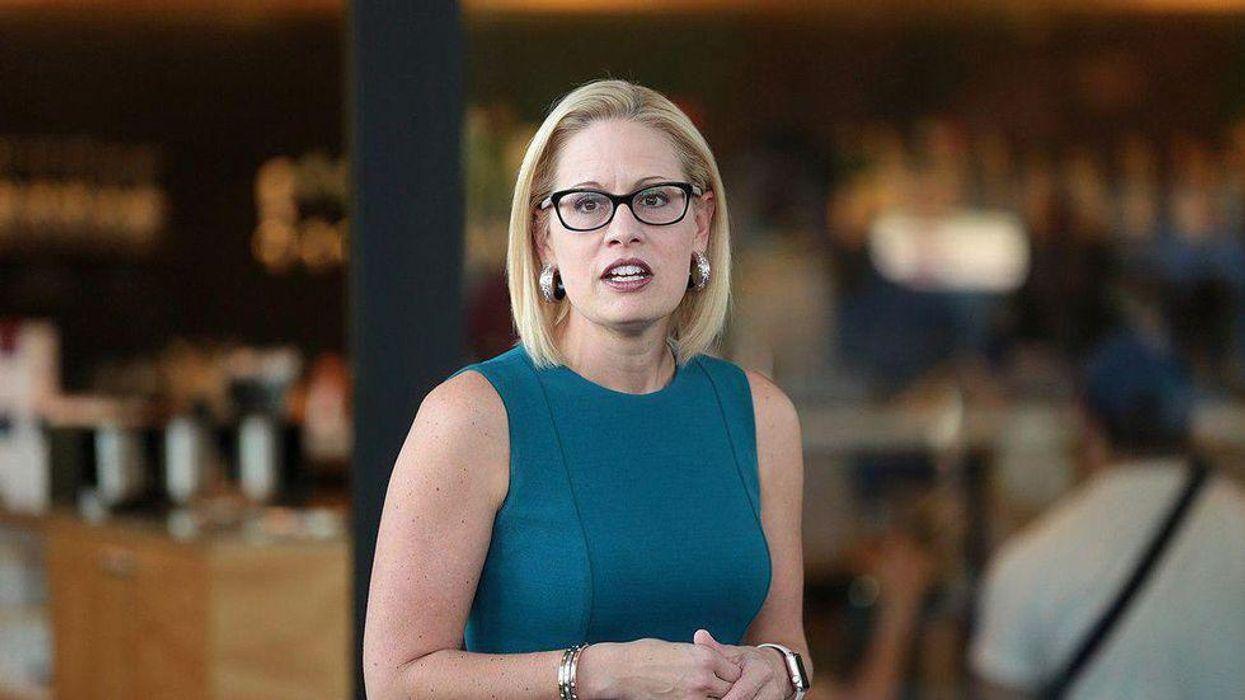 'Who do you work for?': Kyrsten Sinema gets targeted for her obstruction of Biden's agenda