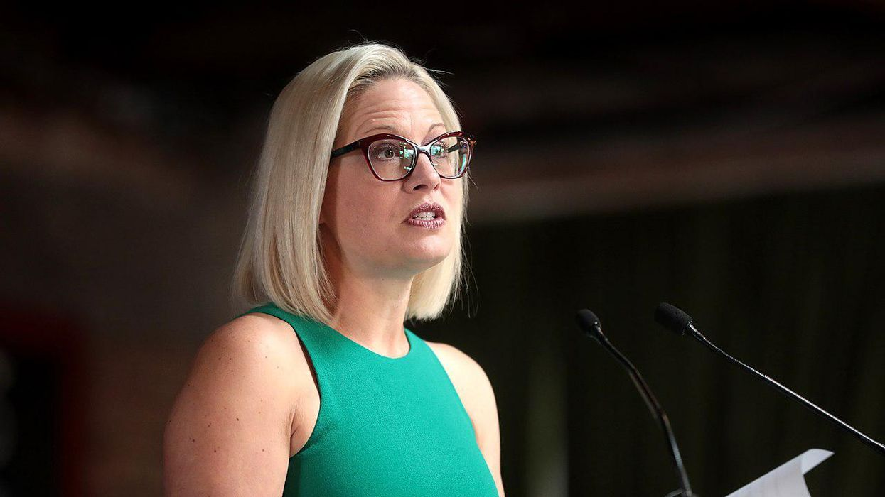 Kyrsten Sinema had a curt response to major dissent brewing among her home state Democrats
