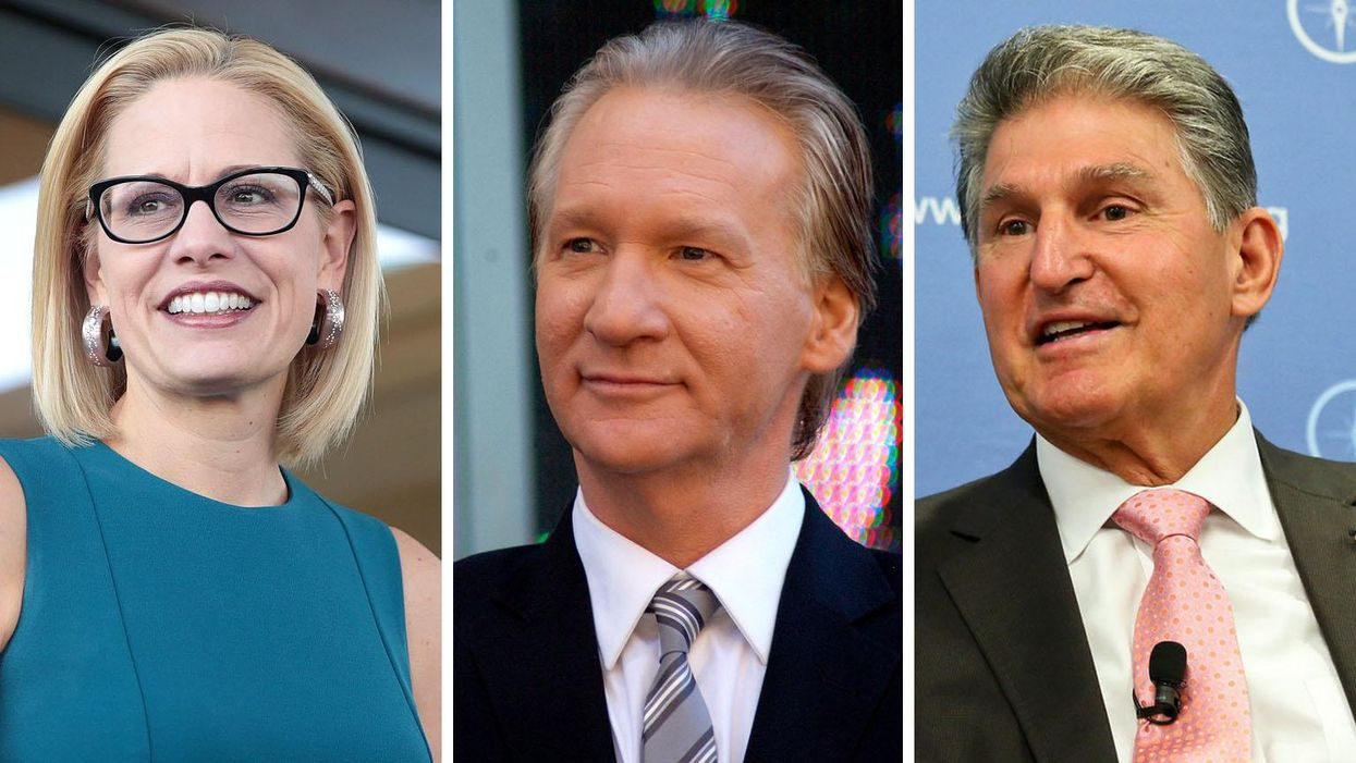Of course Bill Maher is defending Joe Manchin and Kyrsten Sinema: They 'have their thumb' on average voter