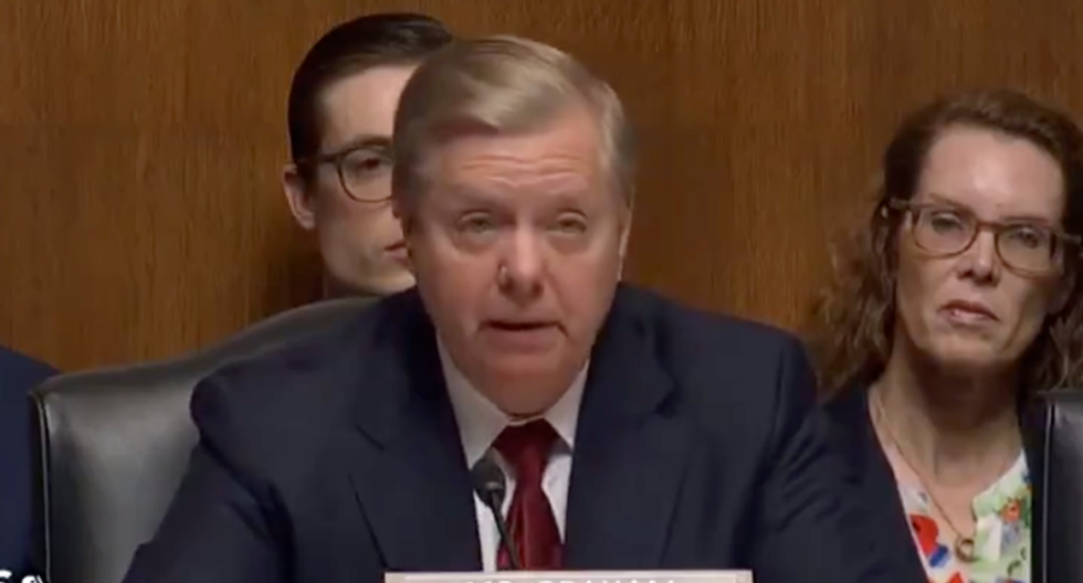 'Trump is a f*cking idiot': Lindsey Graham reads a brutal, uncensored text at Barr hearing — then quickly apologizes