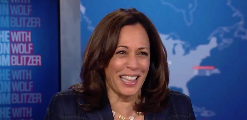 Kamala Harris bursts into horrified laughter at GOP officials: 'These guys are out just of their minds!'