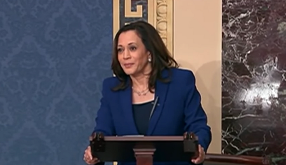 Kamala Harris stuns a GOP senator into silence on live TV for orchestrating 'distraction' on police reform