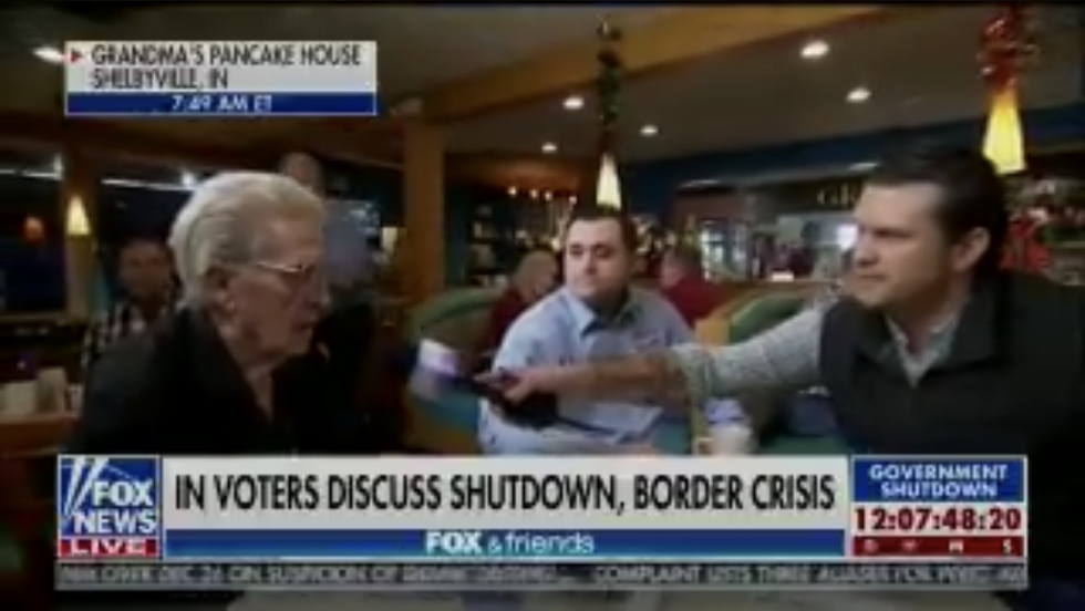 Fox News host awkwardly explains to Trump supporter that the president can't fire Nancy Pelosi